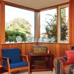 Corner windows are an iconic feature of Usonian homes.
