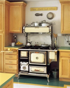 Reproduction stoves replicate the styling of late 19th- and early 20th-century appliances, but have all the technology of modern stoves.