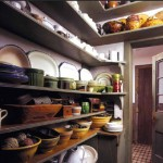 Although they conceal some modern appliances, the pantries in the old house are marvelously untouched.