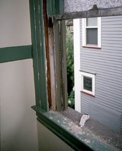 Decades of sloppy paint buildup on working surfaces leads to leaky sash and drafts. Simply removing bumps, drips, and excess (especially along the meeting rails at the midpoint of the window) and adjusting stops will improve the seals.