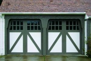 Swing-style garage doors by the Carriage House Door Co.