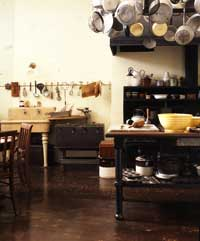 Supremely functional, the 1920s kitchen of Woodrow and Edith Wilson's Georgian Revival home in Washington, D.C., boasted the period's latest amenities.  Photo by Erik Johnson.