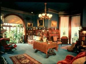 Mark Twain house library