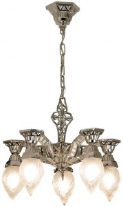 Deco Style pan chandelier from House of Antique Hardware