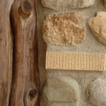 """As with many stone cottages, a traditional """"luck brick"""" is ensconsed beside the front door."""