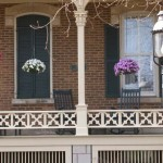 The porch was completely restored; its snowflake railing was modeled after one found on a similar house.
