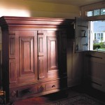 The kas, or Dutch cupboard, was made in Kingston, New York, in 1730.