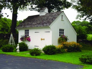 New England garden shed by Country Carpenters