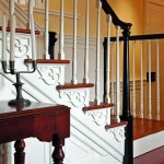 The staircase came from a historical building that was dismantled. Zimmerman re-created the trim details.