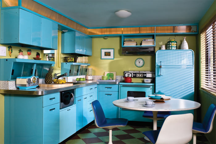 Fifties rock 39 n 39 roll retro kitchen old house online for Cocinas vintage anos 50