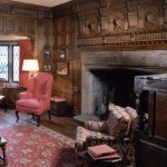 The study is baronial in the 1920s historical revival mode.