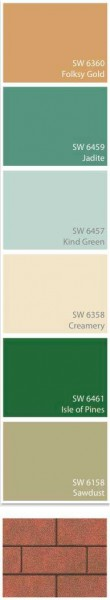 Sherwin-Williams paint colors for Sears Modern Home No. 105