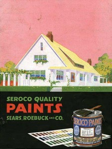 Seroco paints catalogs from Sears outlined color schemes for all fo the company's mail-order houses.