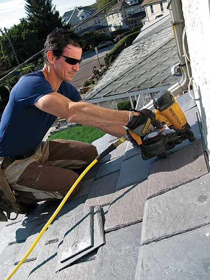 How To Install A Faux Slate Roof A Carpenter S Step By