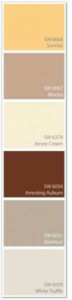 Westly color swatch featuring Sherwin-Williams paints