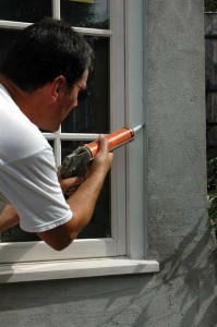 One of the easiest ways to improve the thermal performance of old houses is to caulk exterior cracks with high-quality sealant. Polyurethane products have the strength for exterior conditions, but their viscosity means choosing a good grade of gun that delivers power without hand fatigue. (Photo: Peter Lord)