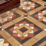The owners salvaged the floor of encaustic tiles from a razed church: hundreds of individual tiles were painstakingly reassembled.