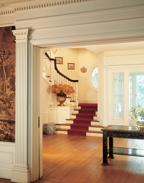 paint on neo-Colonial woodwork is a convention of the Colonial Revival ...
