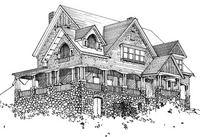 Tudorbethan House Illustration