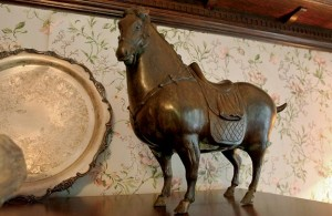This burly bronze horse was purchased for $1 and shipped for close to $100.