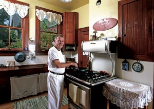 After 20 years of cooking on a 1914 A.B. Battle Creek stove, Donald succumbed to a modern reproduction.