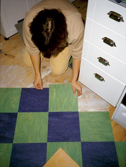 how to lay linoleum tile old house online. Black Bedroom Furniture Sets. Home Design Ideas
