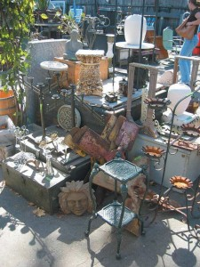 Don't overlook salvage yards—such as this one at Ohmega Salvage—as a resource for finding the architectural accents that were once common in an old-house garden, such as statuary, stone pedestals, and cast-iron fences and gates.