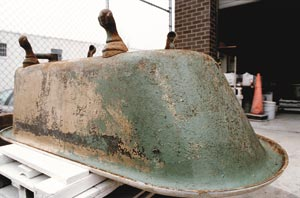 The Brass Knob in Washington, D.C., sends its clawfoot tubs off-site for refinishing.