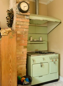 Another task on the Selenys' kitchen to-do list is to re-chrome their vintage Chambers stove.