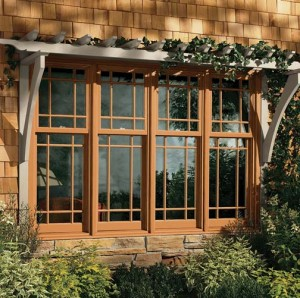 Modern manufacturers have begun offering windows with classic, turn-of-the-20th-century muntin patterns, including these Prairie-styled sashes.