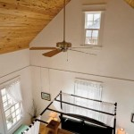 A loft overlooks the bedroom, which has a wonderful cathedral ceiling and fan to keep the room cool.