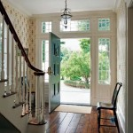 Murray also redesigned the front hall, creating a freestanding stair. This design move makes the hall more spacious.