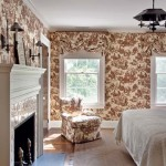 Toile papers dress up a guest bedroom.