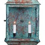 Two-light verdigris porch lantern, Authentic Designs