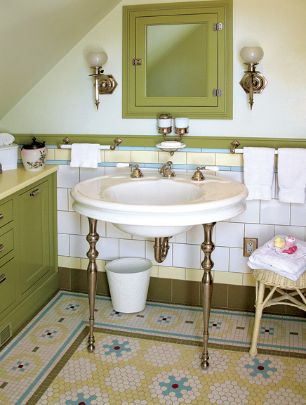 Tile Patterns for Floors in Old-House Baths - Old-House ...