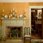 The highlight of the 1780s parlor is a beautiful, hand-carved mantel in the Federal style.