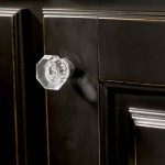 Faceted crystal knobs, like this one from Tob Knobs, are available in a rainbow of colors and dozens of sizes.