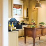 The island as kitchen furniture, designed by Crown Point Cabinetry.