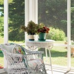 The couple relaxes in summer months with friends and family on the screened porch.