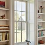 The windowsills have deep recesses.