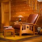 Tsuba Morris bow-arm chair by Stickley