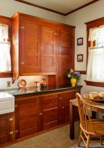 Restored Cabinets In A Renovated Craftsman Kitchen Old