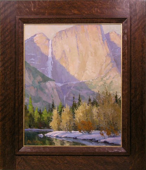 Sweeping Shadow oil painting from Holton Studio Framemakers