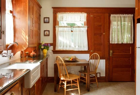 Refinished original built-ins, cabinets, and trim have a character rare in remodeled kitchens. _5