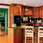 In the kitchen, custom cabinetry helps new appliances blend easily into the 185-year-old farmhouse.