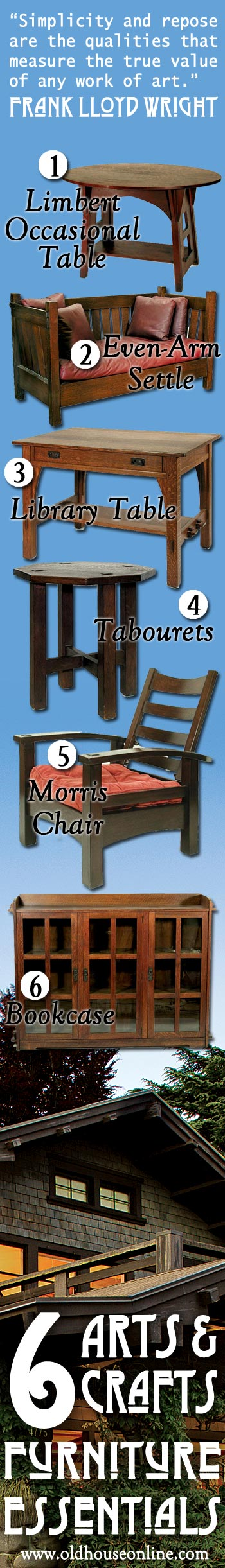 6 Arts & Crafts Furniture Essentials.