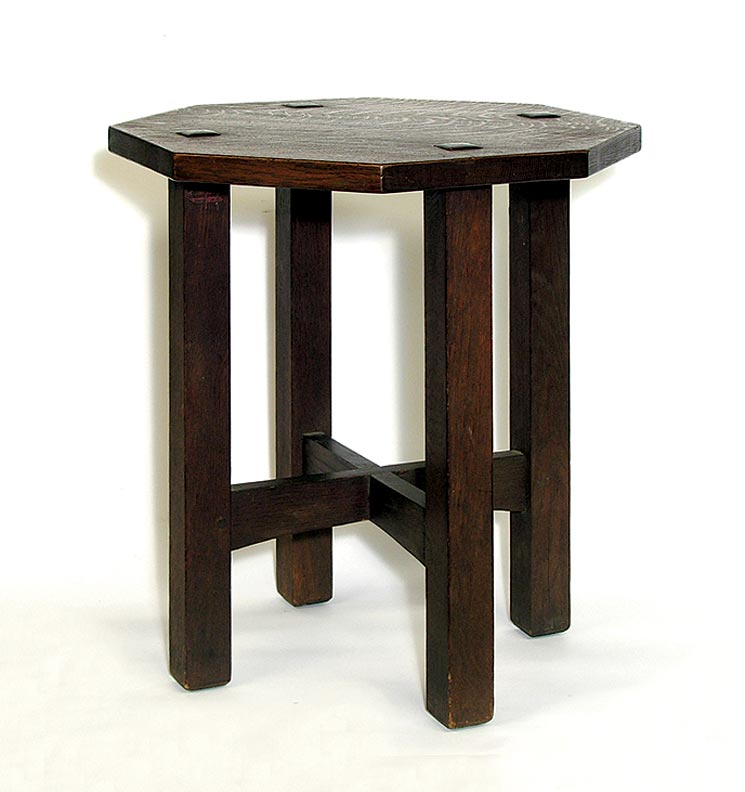 L. & J.G. Stickley tabouret