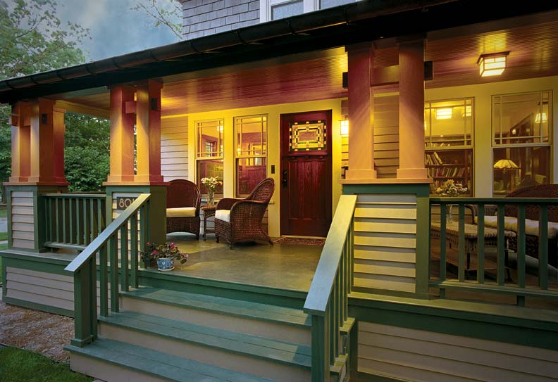 A bungalow makeover old house online old house online for Arts and crafts porch columns