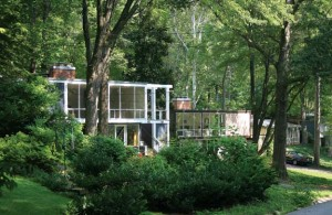 These Rebecca Drive houses enjoy dramatic views through the trees while preserving the privacy cherished by Hollin Hills residents.