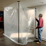 Zip Pole dust containment